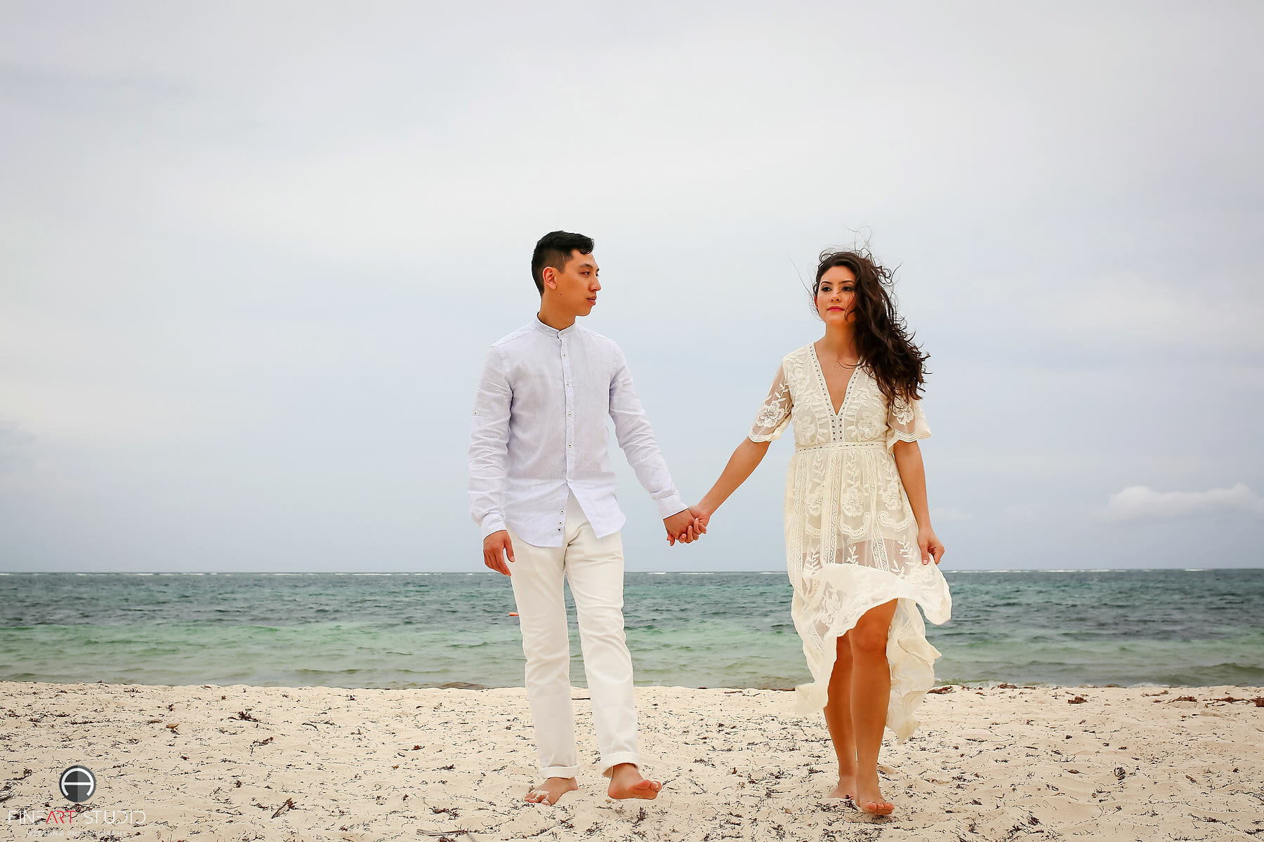 Save The Date Wedding Session Cancun Mexico