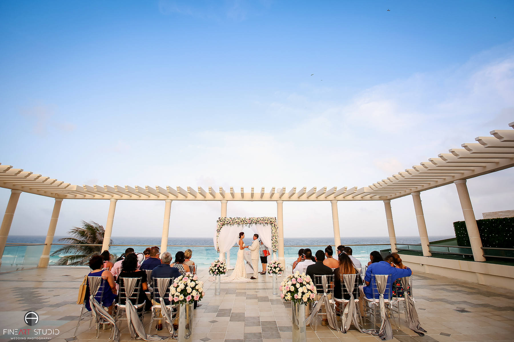 97b183e9b99b65 Beach Wedding at Sandos Cancun Luxury Resort - Angela   Ivan